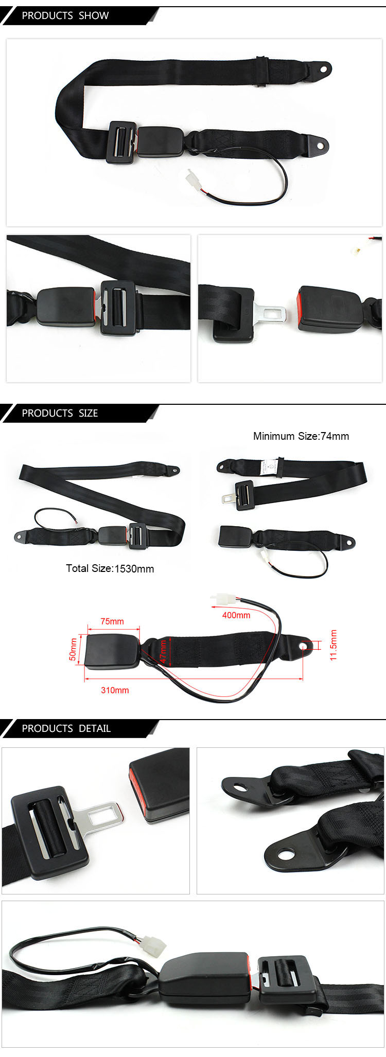 FEA007A Electric Car Safety Belt Accessories