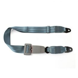 Fea015 Safety Seat Belt Grey Color Simple Two Point Seat Belt Automatic Vehicle Safety Seat Lap Belt material :polyster FEA015