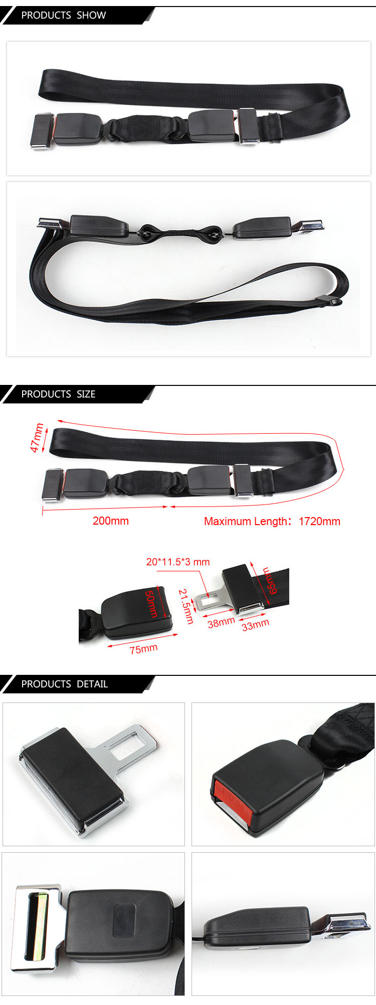 Fea017 Adjustable Seat Belt for Pregnant Woman