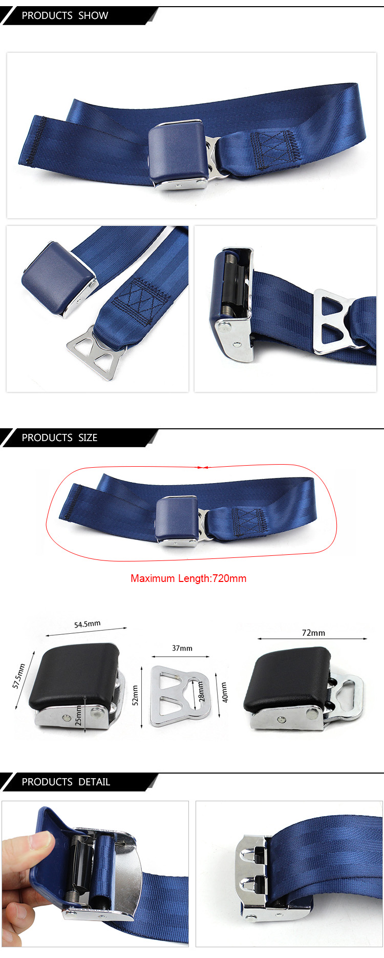 FEA047A Safety Belt Extender Blue Color