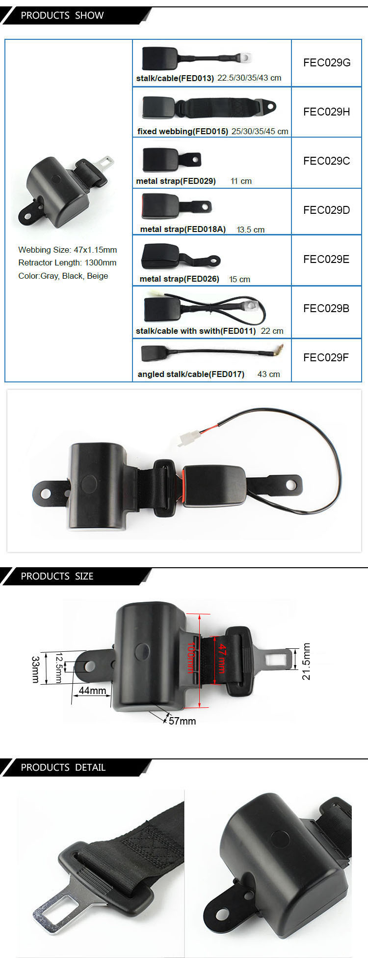 FEC029 Get Latest Price Self-Retracting Safety Belts