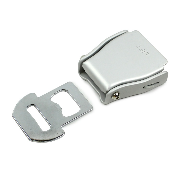 Fed 038 Aluminium Airplane Buckle car make:for most aircraft seatbeltFED038