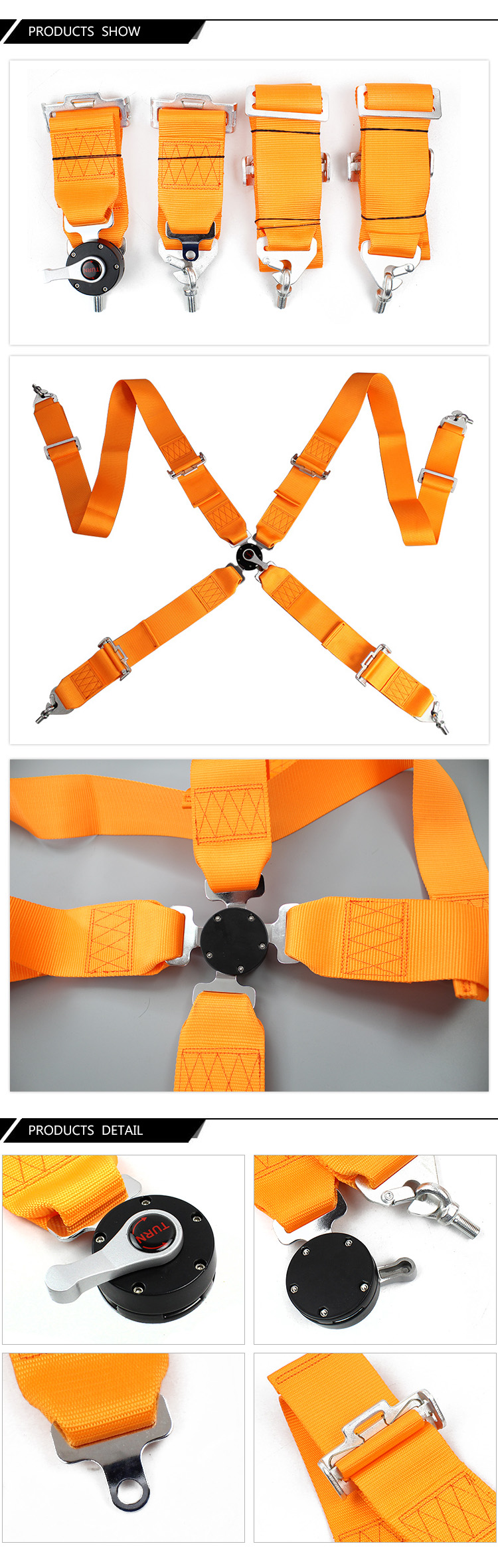 FER001-1 4 Point Racing Safety Seat Belt