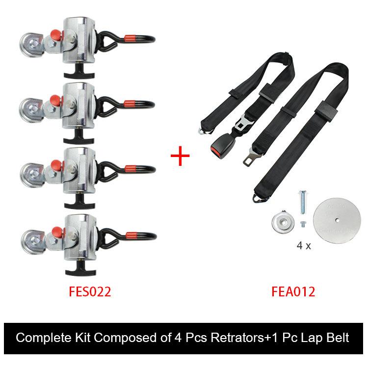 FES032 Standard Wheelchair Retractable Tie Down System material : metalFES032-01