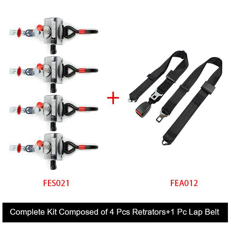 Fes031 Wheelchair Seat Belt Complete Kit Composed With4 PCS Retrators +1 PC Lap Belt application :for most wheel chairfes031-01