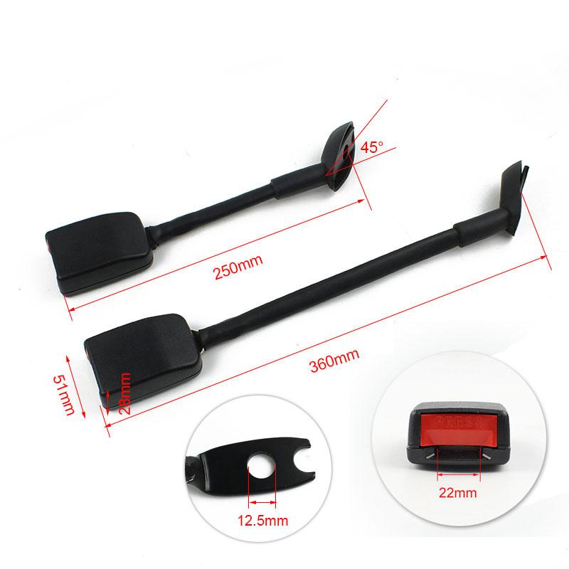 FED081 Long Stalk Angled Ending Seat Belt Buckle