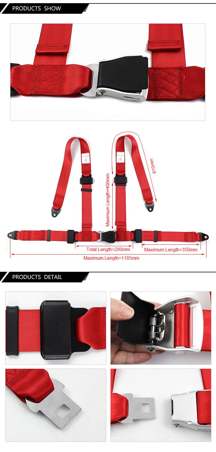 4 Points Airplane Seat Belt